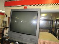 "Sanyo television with 31"" screen and foot stool"