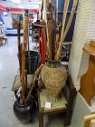 Two Containers Full of Walking Sticks and Canes